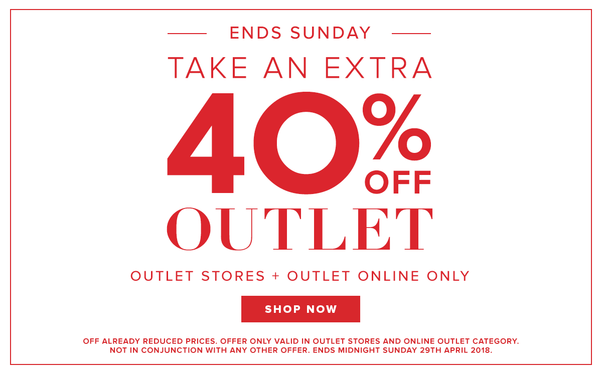 Take an Extra 40% off Outlet