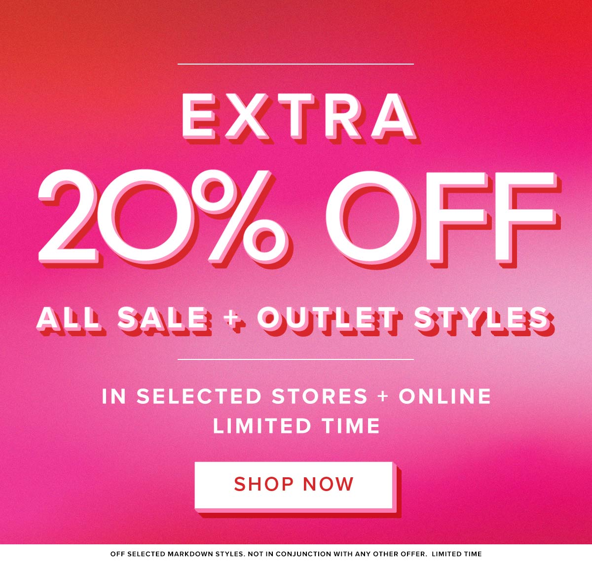 Take An Extra 20% Off Markdown Styles